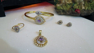 Purple Jewelry Set