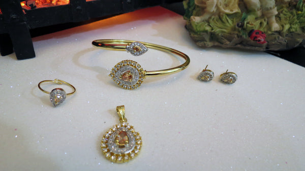Champagne Jewelry Set