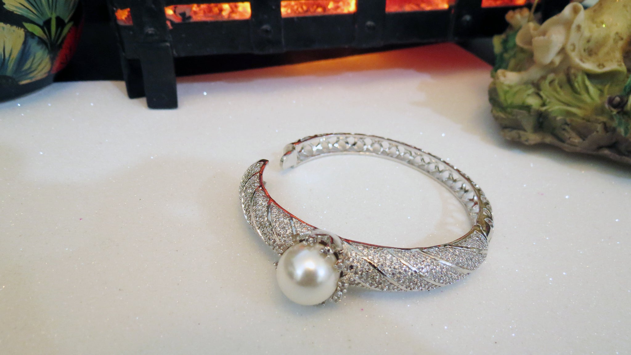 Silver Bracelet With Pearl
