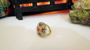 Color Stones Ladies Ring
