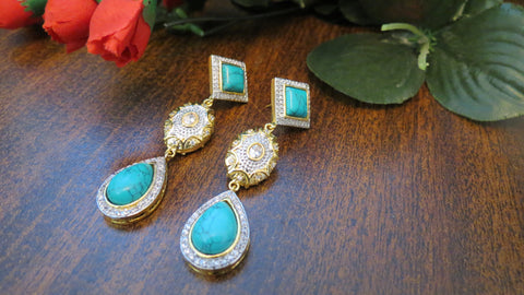 Turkish Earrings - Turquoise