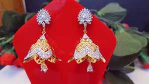 Jhumka Style Earings With Zircon