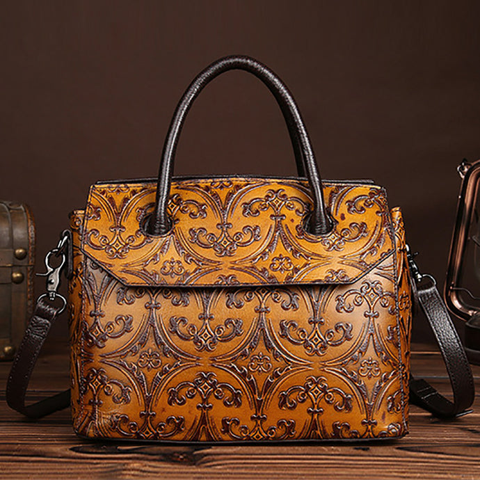 Women's Genuine Leather Cowhide Designer Handbag