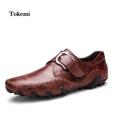 Men's Genuine Leather, Roman Style Loafers..