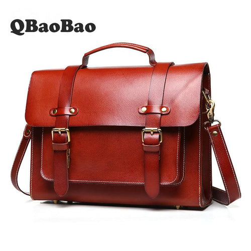 New Unisex Leather Retro Briefcase &  Messenger Bag