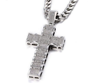 💎Unisex HipHop Cuban Iced Out Crystal Chain