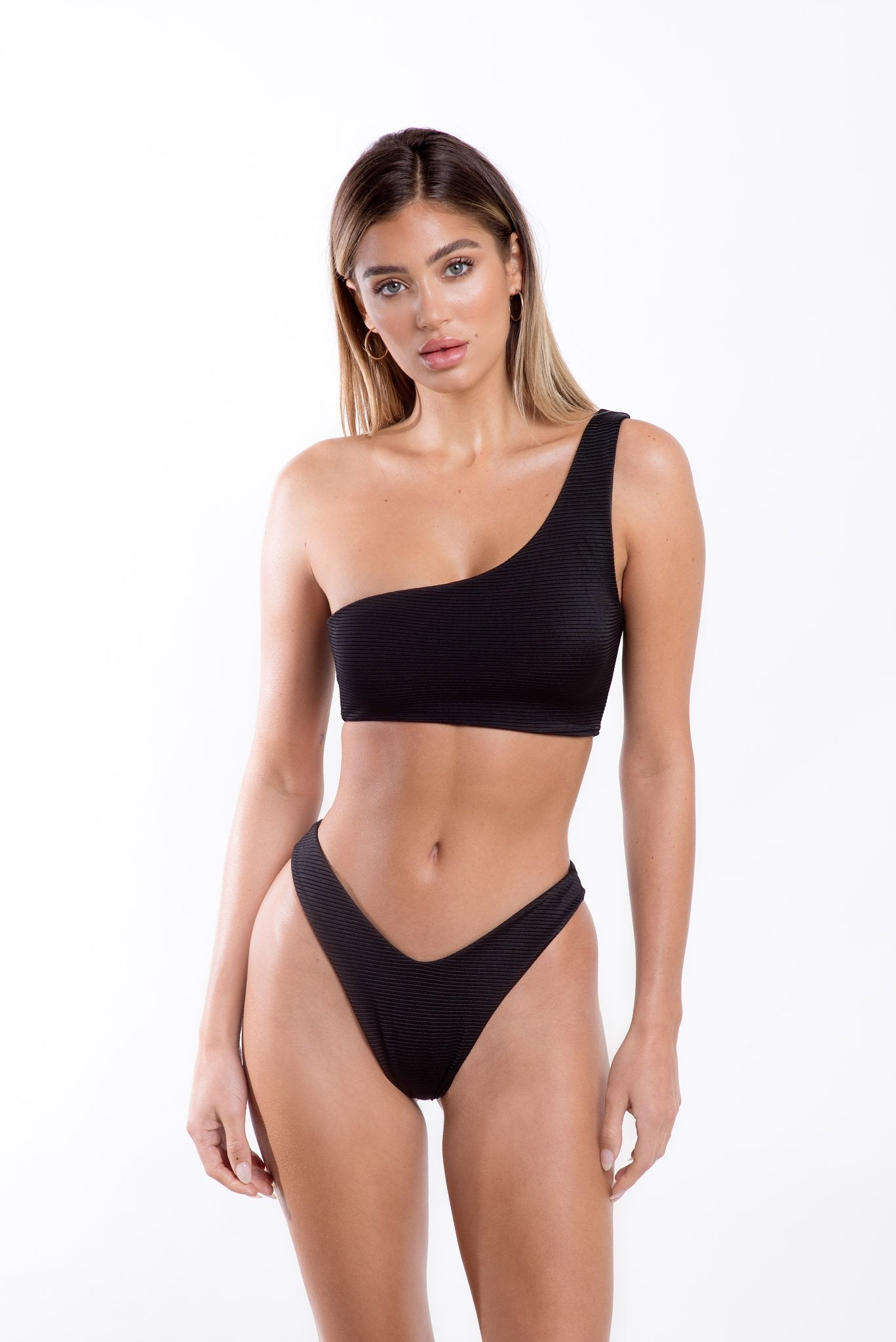 Gigi Bottoms Black Rib