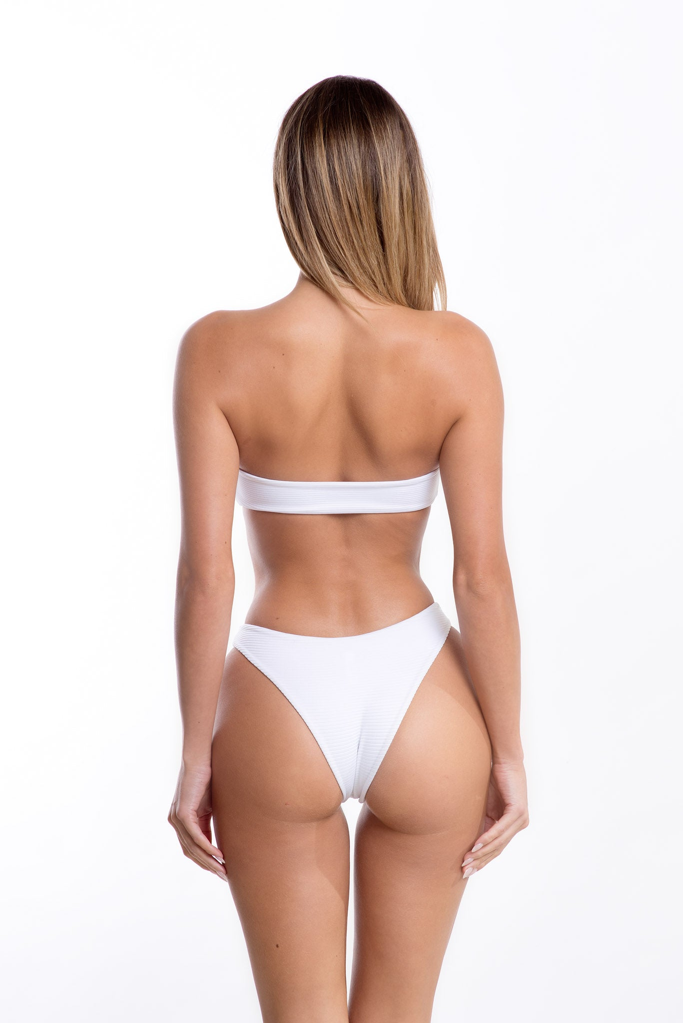 Zuri Top White Rib