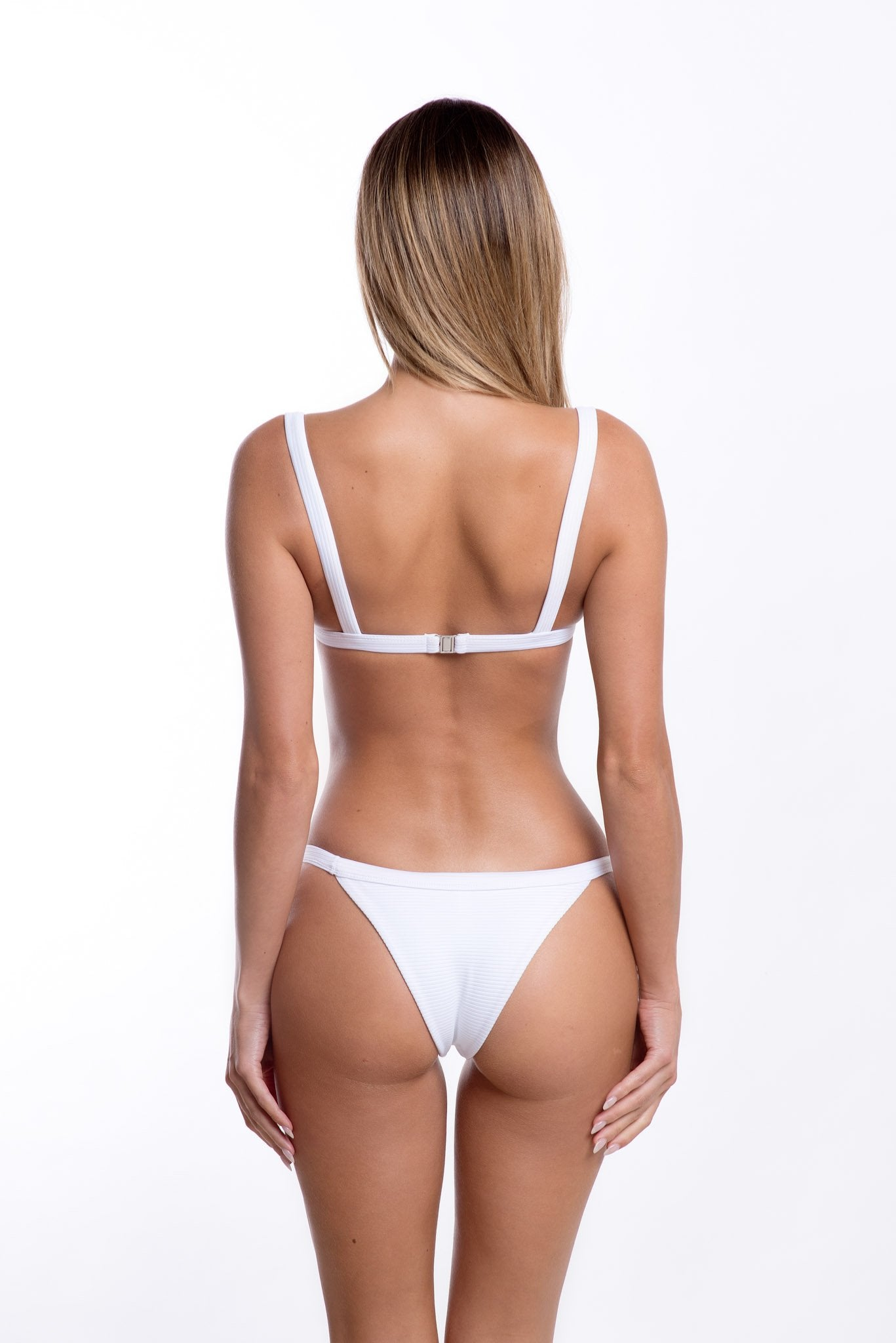 Romee Bottoms White Rib