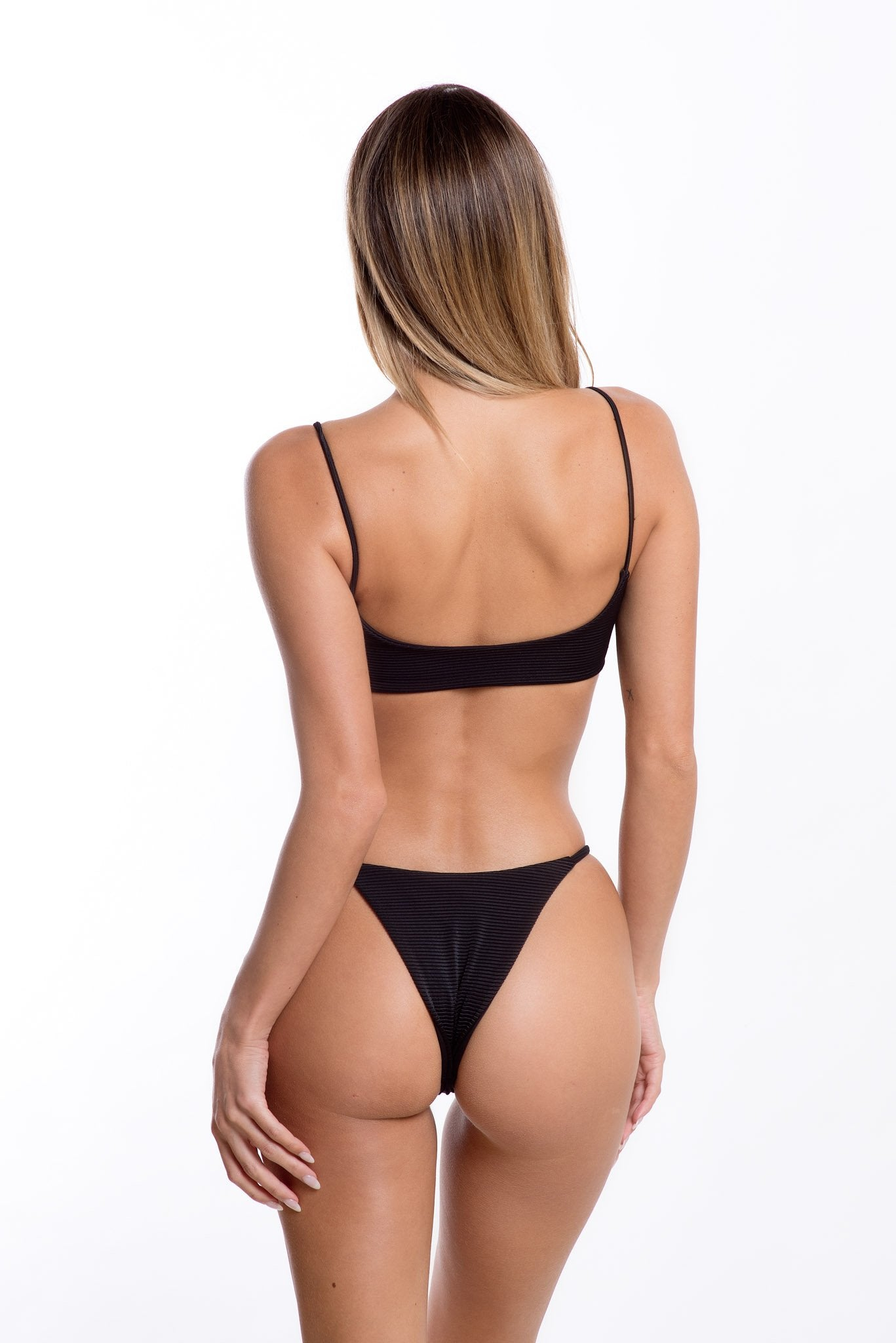 Lara Bottoms Black Rib