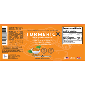 QFL TurmericX 120 Veggie Capsules- 2 Months Supply- 95% Curcumin Turmeric Powder with Ginger, Black Pepper for Better Absorption - Ayurvedic NON-GMO Antioxidant & Anti-Inflammatory Joint Pain Relief