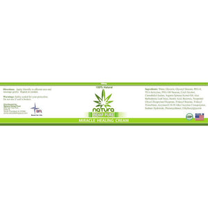 QFL NATURA HEMP PURE MIRACLE PAIN RELIEF CREAM 300mg. Made in USA.-Fashion and Health Brands