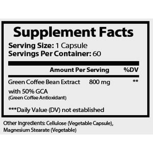 QFL Green Coffee Bean Extract- 60 Capsules.