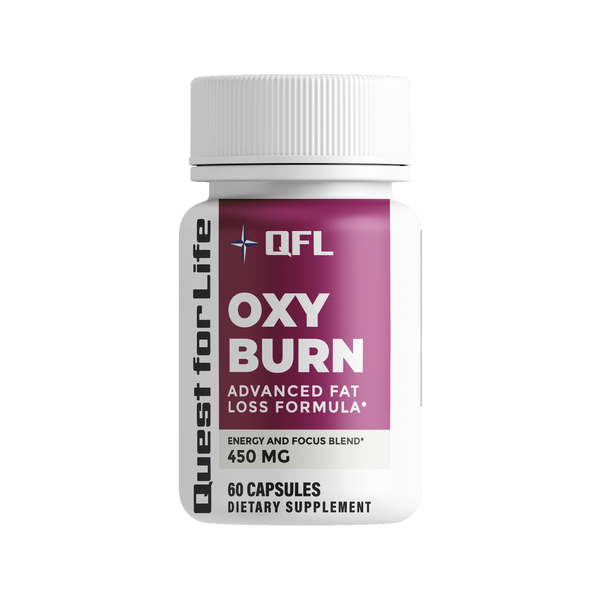 QFL OXY Burn Natural Fat Reducer - Green Tea Extract Supplement with EGCG. Metabolism Booster for Healthy Weight Management