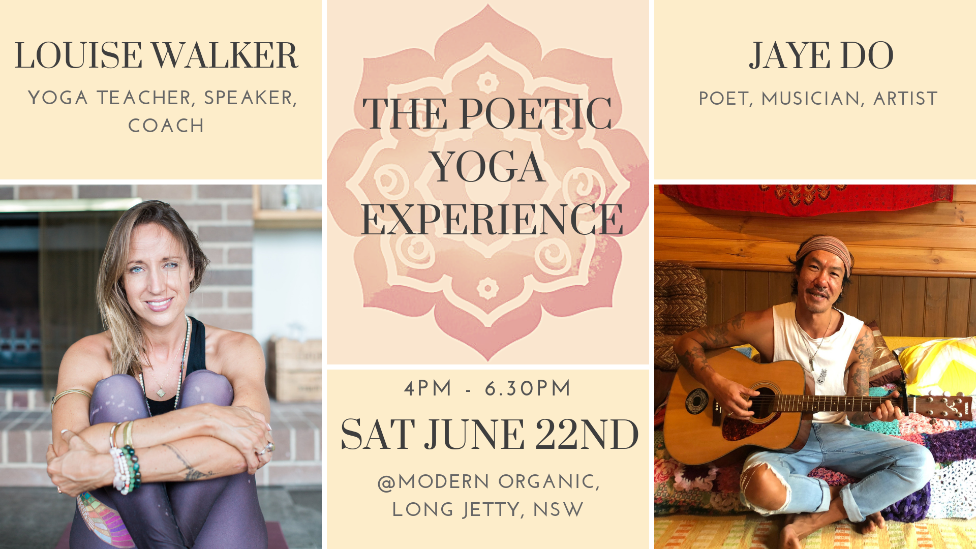 The Poetic Yoga Experience - Event at Modern Organic
