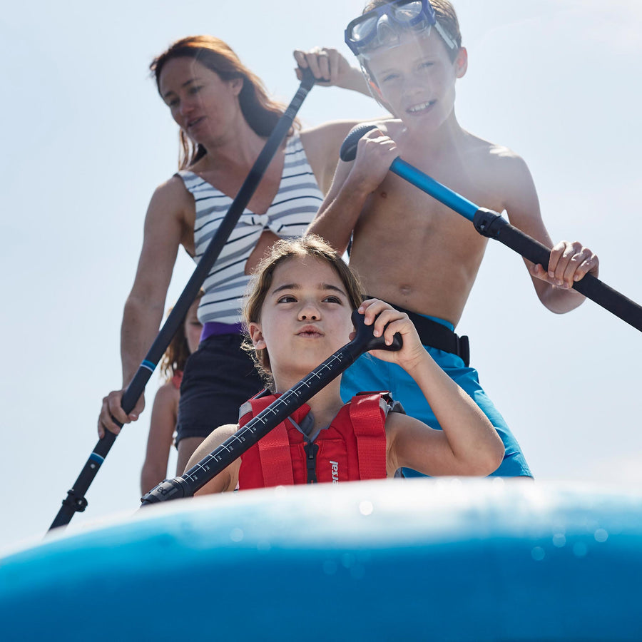 Freshwater Surf Goods Custom Stand Up Paddleboard (SUP) Experience Family Mother with Children