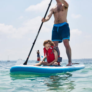 Freshwater Surf Goods Custom Stand Up Paddleboard (SUP) Experience Family Dad with Son Young Boy