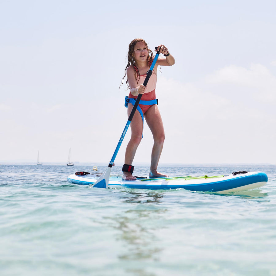 Freshwater Surf Goods Custom Stand Up Paddleboard (SUP) Experience Family Young Girl Daughter
