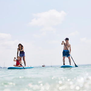 Freshwater Surf Goods Custom Stand Up Paddleboard (SUP) Experience Family Mom Dad Mother Father Daughter Young Girl