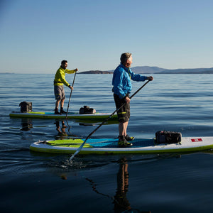 Freshwater Surf Goods Stand Up Paddleboard Tour Father and Son Paddling
