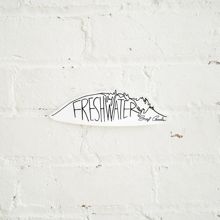 Freshwater Surf Goods Original Wave Sticker