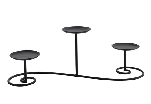 IRON STAND LONG 3 - BLACK - Candle Cottage