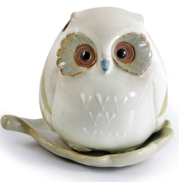 Shoyeido Incenser Holder - Baby Owl - Candle Cottage