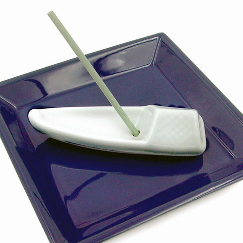 Shoyeido Incenser Holder - Porcelain Boat - Candle Cottage