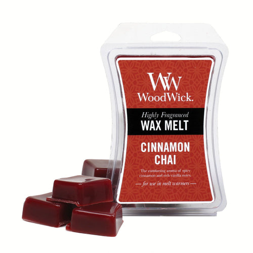 WoodWick Wax Melt - Cinnamon Chai - Candle Cottage