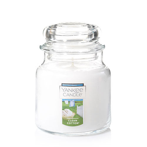 Yankee Classic Jar Candle - Clean Cotton - Candle Cottage