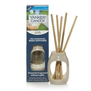 Yankee Candle Pre-Fragranced Reed Diffuser - Clean Cotton