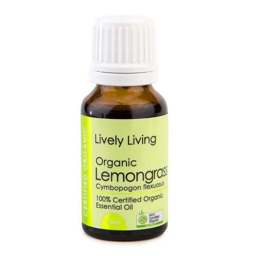 100% Certified Organic Essential Oil - Lemongrass - Candle Cottage