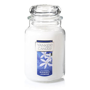 Yankee Classic Jar Candle - Midnight Jasmine - Candle Cottage