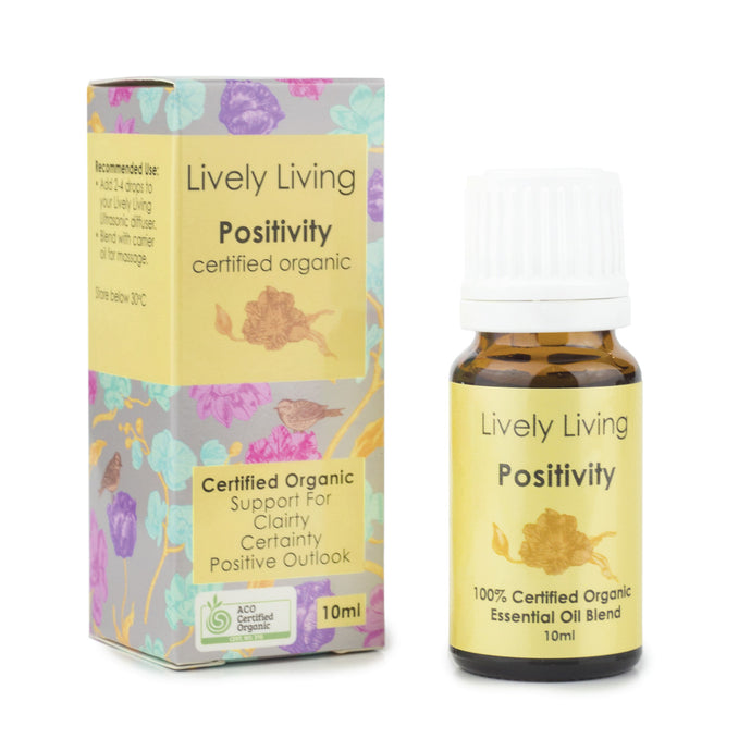 100% Certified Organic Essential Oil - Positivity - Candle Cottage