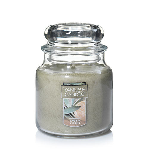 Yankee Classic Jar Candle - Sage & Citrus - Candle Cottage