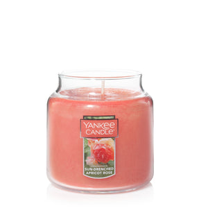 Yankee Classic Jar Candle - Medium - Sun-Drenched Apricot Rose