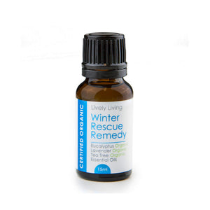 100% Certified Organic Essential Oil - Winter Rescue Remedy - Candle Cottage