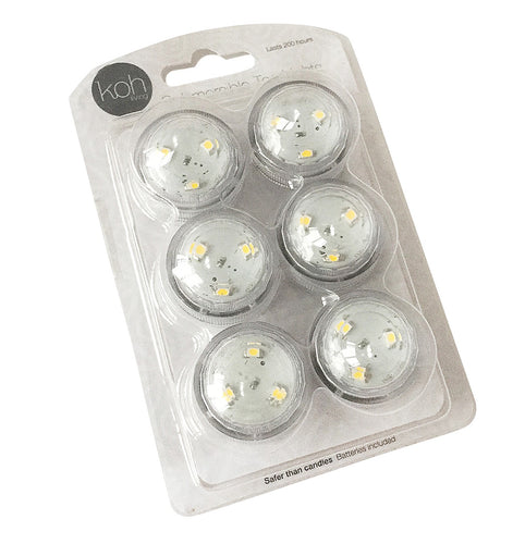 Battery Operated Tealights - 6-Pack