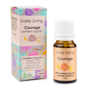 100% Certified Organic Essential Oil - Courage - Candle Cottage