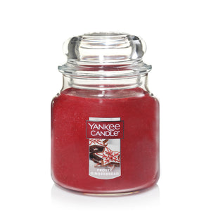 Yankee Classic Jar Candle - Medium - Xmas Frosty Gingerbread