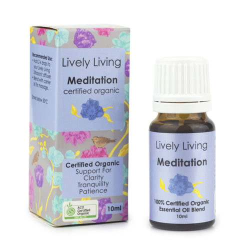 100% Certified Organic Essential Oil - Meditation - Candle Cottage