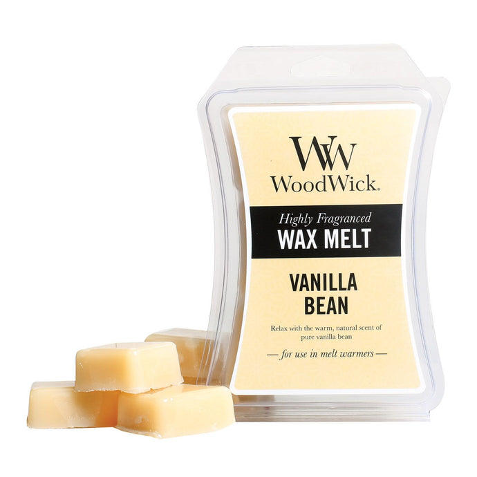 WoodWick Wax Melt - Vanilla Bean - Candle Cottage