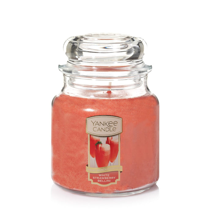 Yankee Classic Jar Candle - Medium - White Strawberry Bellini