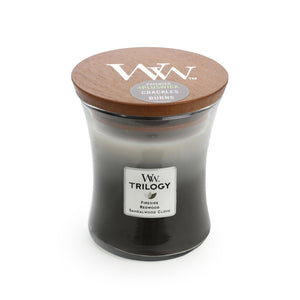 WoodWick Trilogy - Warm Woods - Candle Cottage