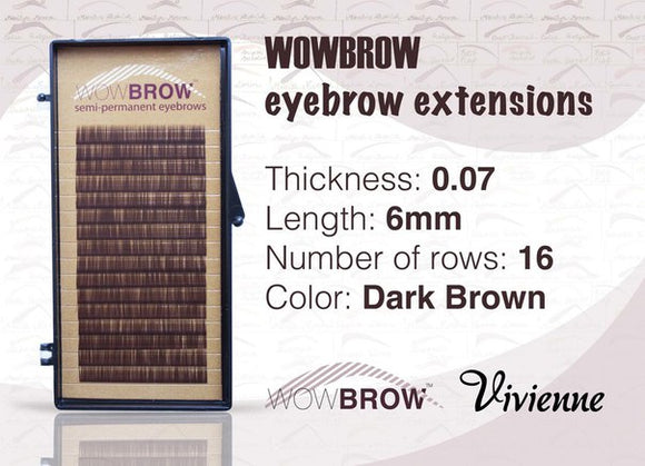 WowBrow Brow Extensions Brown 16lines