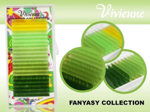 "VIVIENNE FANTASY COLLECTION COLOR MIX ""GREEN PARADISE"" ONE LENGTH 20 LINES D.10"