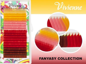 "VIVIENNE FANTASY COLLECTION COLOR MIX ""DESERT SUN"" ONE LENGTH 20 LINES D.10"