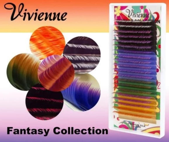 VIVIENNE FANTASY COLLECTION MIX TWO-COLORED EYELASHES ONE LENGTH 20LINES TRAY D.10
