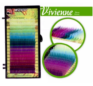 VIVIENNE SAFARI COLLECTION EYELASH EXTENSIONS ONE LENGTH 16 LINES TRAY B/C.15