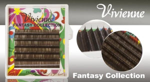 "VIVIENNE FANTASY COLLECTION ""GREY BROWN""  0.07 D MIXED LENGTH 8-13mm 6 LINES"